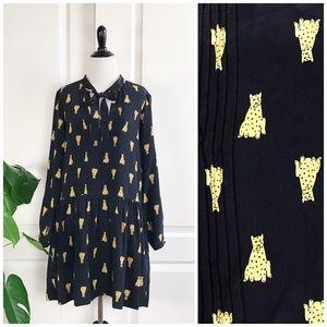 Sea New York Leopard Print Silk Dress